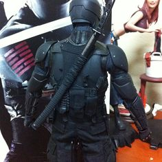 At look at the back. A little bit like the League of Shadows ninja uniform. #ToytrooperDoubleFeature