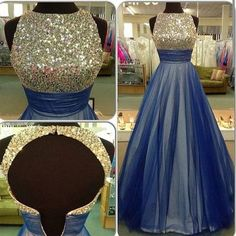 Charming Prom Dress,Beading Prom Dress,Tulle Prom Dress,Backless Evening Dress…