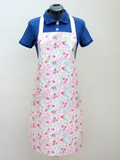 Pink Paisley Floral Design Adult PVC Apron by OneLeggedGoose, £12.50