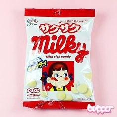 Delicious Peko Chan candies packed in a cute bag!