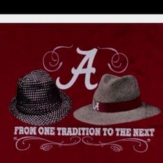 From one tradition to the next  - Alabama football.