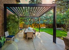 Nice clean lines for an outdoor pergola