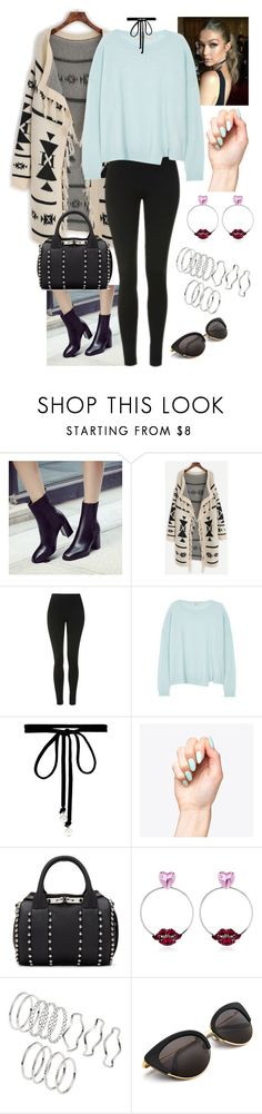 """Untitled #702"" by fatyhnrqz94 ❤ liked on Polyvore featuring Topshop, J Brand, Joomi Lim, Alexander Wang and Anton Heunis"