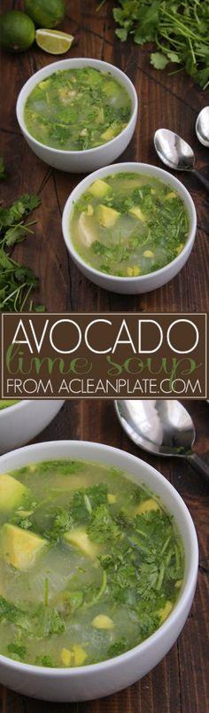 Avocado Soup recipe from acleanplate.com