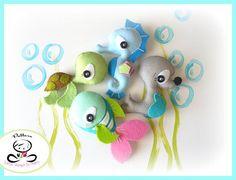 The Fish PDF pattern-Sea animals di LittleThingsToShare su Etsy