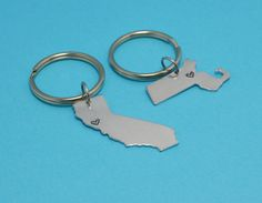 ANY TWO STATES United States Keychain Set  by SilverStatements, $30.00