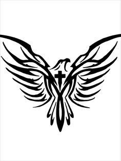 Eagle Cross Tattoo by GARBAGENGTXLR.deviantart.com on @DeviantArt