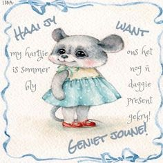 Lekker Dag, Afrikaanse Quotes, Goeie More, Good Morning Wishes, Good Night, Presents, Teddy Bear, Inspirational Quotes, Animals