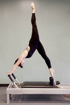 Arabesque - Joseph Pilates working out - #Pilates Loved and Pinned by www.HottiePilatesBody.com of Los Angeles, CA