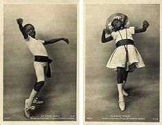 """Postcards of Fredy and Rudy Walker from the early part of the 20th century. From the site """"Cakewalk - From the U.S. to Parisian Dance Halls 1800s- 1920s."""""""