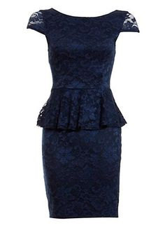 New Look lace peplum dress, £19.99