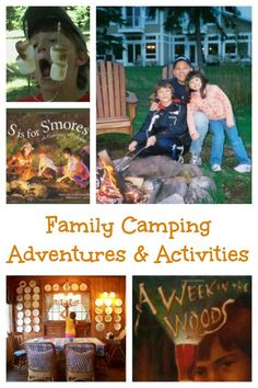 Fun camping activities for kids and families!  Great ideas & tips whether you're in a tent or cabin.  Camping with kids | Things to do in a tent | Outdoor activities