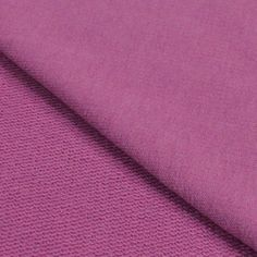 Mulberry Purple Solid Cotton Spandex French Terry Knit Fabric
