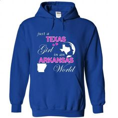 Texas Girl in an Arkansas World - #tshirt bemalen #sweatshirt you can actually buy. CHECK PRICE => https://www.sunfrog.com/States/Texas-Girl-in-an-Arkansas-World-xkoacancri-RoyalBlue-23145911-Hoodie.html?68278