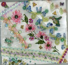 Floral Crazy Quilt Block 9