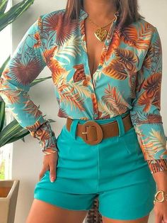 Chic Type, Trend Fashion, Fashion Styles, Style Fashion, Floral Blouse, Types Of Sleeves, Printed Shirts, Blouses For Women, Ideias Fashion