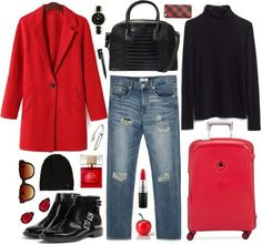 plane outfits for the winter (without the torn jeans)