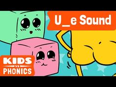 """Help your children learn how to pronounce the """"""""U_E"""""""" Magic E Level 9 phonetic sound with this fun educational video! ☀ Best Kids Songs & Stories [Free Downl..."""