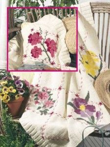Knit Flower Afghans to Welcome Spring – from the archives – 15 free patterns