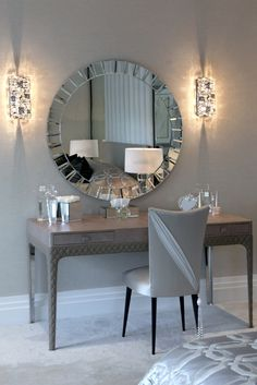 Italian shagreen leather dressing table © Hill House Interiors