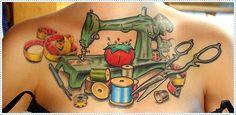 Imágenes: Tatuajes con temas de coser, tejer y manualidades   Antidepresivo