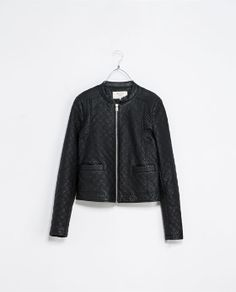 Love this quilted faux leather jacket with fur lining from ZARA