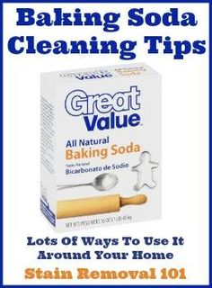 Get lots of baking soda cleaning tips, to learn how you can use this natural product to cleaning, launder, remove stains and deodorize all kinds of things in your home.