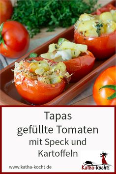 Tapas, Healthy Recipes, Healthy Food, Grilling, German Recipes, Stuffed Peppers, Vegetables, Buffet, Low Carb