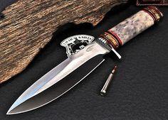 CFK USA Custom Handmade D2 APACHE CODE BREAKERS WWII Tribute Fighter Bowie Knife