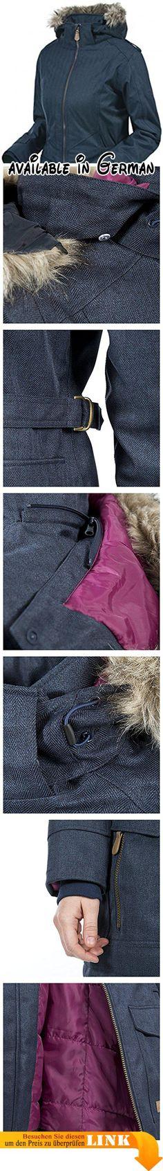 Trespass Damen Wasserdichte Jacke Women'für den täglichen Gebrauch xl Blau - navy. 3000 mm wasserdicht. Einstellbare zip off hood. Gepolsterte Jacke. 2 Fächer mit Reißverschluss. Abnehmbarer Kunstfellbesatz #Sports #SPORTING_GOODS