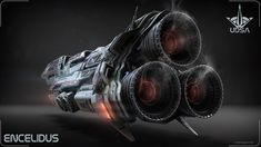 Final Mothership Renders for Thrust comp- The Encelidus by Renquist | Sci-Fi | 3D | CGSociety