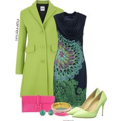 A fashion look from September 2014 featuring Desigual dresses, Moschino Cheap & Chic coats y Giuseppe Zanotti pumps. Browse and shop related looks.
