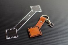 Artisan Workshop based in the Pacific Northwest by SixElementsWorkshop Leather Wallet Pattern, Leather Keyring, Leather Gifts, Leather Jewelry, Leather Diy Crafts, Leather Projects, Leather Craft, Keychain Design, Cute Keychain