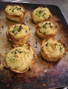 Smoked Kahawai Pastries with potato top