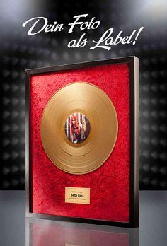 Goldene Schallplatte - mit Fotodruck