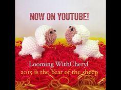 Rainbow Loom Sheep - Loomigurumi / Amigurumi - Looming WithCheryl. Happy Chinese New Year 2015!. Loomigurumi Tutorial is Now on YouTube! Charms / figures / gomitas / gomas / animals. Crochet hook only. Please Subscribe ❤️❤ m.youtube.com/user/LoomingWithCheryl