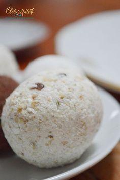 Egészséges, laktató, nem hizlal és villámgyorsan összeállítható. Hozzávalók 5-6 kis gombóchoz 12,5 dkg tehéntúró 3 púpozott evőkanál apró szemű zabpehely 1 evőkanál tejföl 1 evőkanál méz vagy juharszirup 1 kk vaníliás cukor (mi ibolyás cukrothasználtunk) 1 evőkanálnyi apróra vágott mazsola, aszalt vörösáfonya vagy más aszalvány (ha nincs otthon,adjunk hozzá frissen facsart citromlevet, jót tesz neki egy kis fanyar íz) Mézontófű mézzel ízesítettük Hempergetéshez Szőlőcukor, cukrozott vagy… Diabetic Recipes, Diet Recipes, Healthy Recipes, Cookie Recipes, Dessert Recipes, Hungarian Recipes, Health Eating, Healthy Desserts, Healthy Food