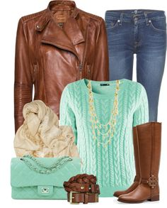 """Mint and Gold"" by chelseagirlfashion on Polyvore"