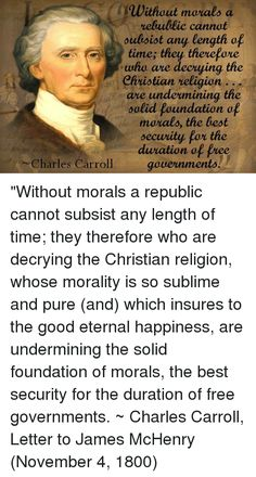 First Principles: Without Morals A Republic Cannot Subsist Any Length of Time | ALOHA PROMISES FOREVER