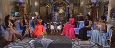#RHOA Reunion: Shocking Moments!!! The Aqua Arabesque Rug By Global Views On The Real Housewives Of Atlanta! #rhoa #globalviews #rugs #interiors #design #interiorhomescapes #interiorhomescapes.com #shocking!