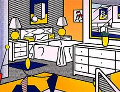 Interior with mobile - Roy Lichtenstein
