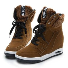 Winter Women's Suede Wedge Casual Shoes //Price: $47.10 & FREE Shipping //     #sportshoes