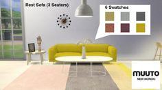 Meinkatz Creations: Rest Sofa by Muuto • Sims 4 Downloads