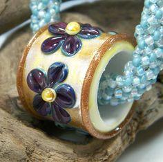 Large Hole Gorgeous Gold and Iris Purple door starlightdesigns