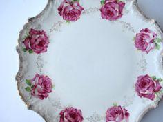 Vintage Empire Pink Rose Serving Platter by jenscloset on Etsy