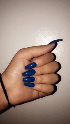 20 Amazing Nail Colors for Winter ⋆ Beautymone Whether you have your own beautiful nails or, just like me, wearing acrylics, I'm sharing 20 amazing nail colors for winter so you can go and do your nails right away! Perfect Nails, Gorgeous Nails, Pretty Nails, Dark Nails, Long Nails, My Nails, Matte Nails, Blue Acrylic Nails, Acrylic Nail Designs
