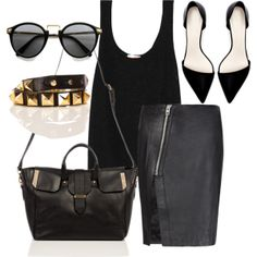 """""""Back in Black"""" by lineapelle on Polyvore"""