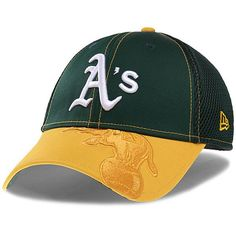 fe810d9079be4 Sports Shop has Men s New Era Green Gold Oakland Athletics Logo Crop Neo Flex  Hat plus easy flat rate shipping!