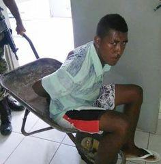 Blog Paulo Benjeri Notícias: Dá para acreditar? Sem viatura de polícia, preso é...