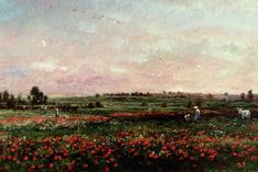 Charles François Daubigny (1817-1878), Fields in the month of June, 1874. Oil on canvas
